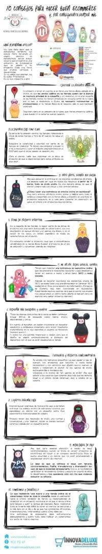 Infografía de los 10 consejos para hacer buen ecommerce