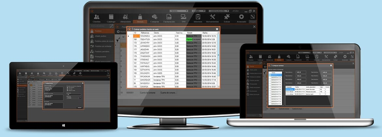 InnovaCommerce ERP disponible en diferentes dispositivos de diferente resolución
