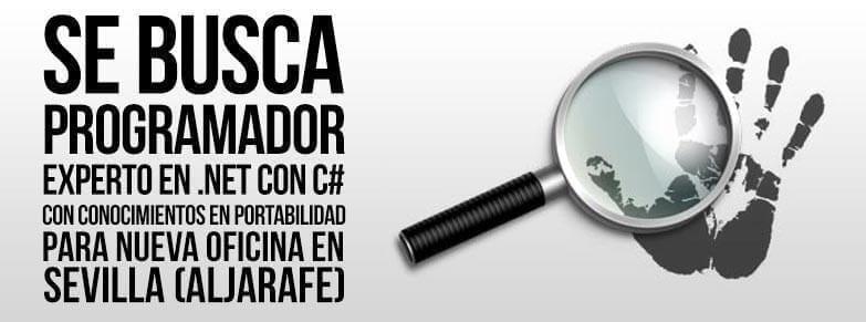 Se busca programador C# para oficina en Sevilla