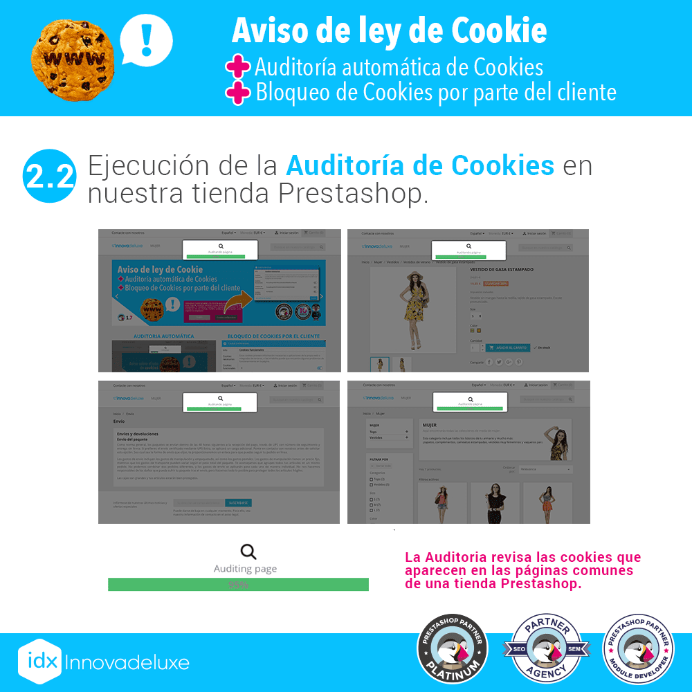 Módulo de Cookies pantalla 3