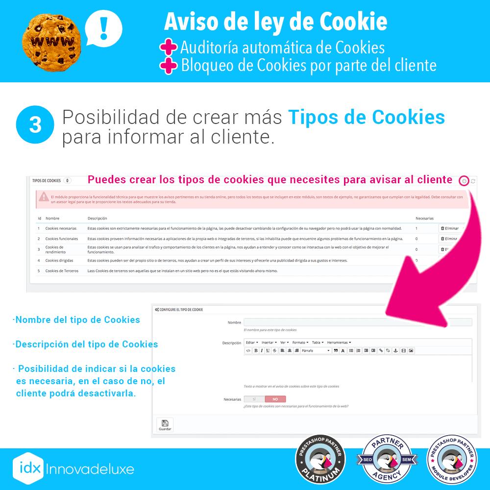 Módulo de Cookies pantalla 4