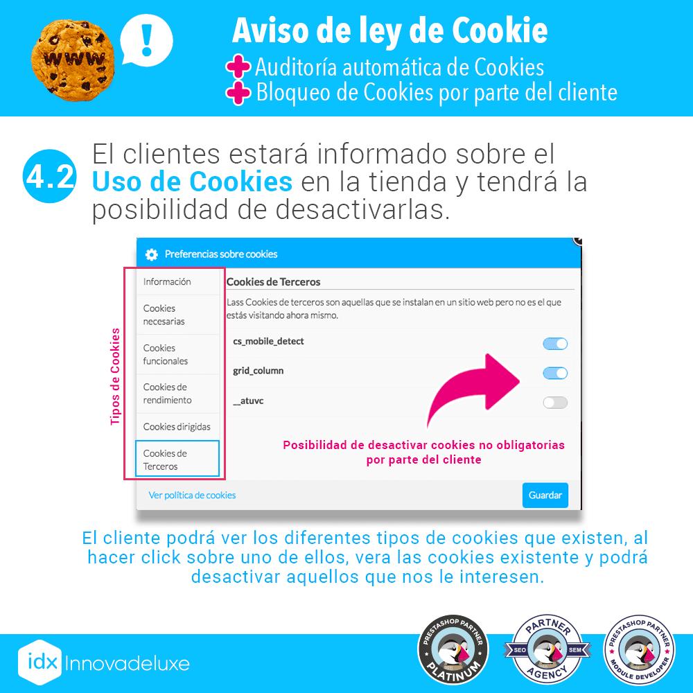 Módulo de Cookies pantalla 6