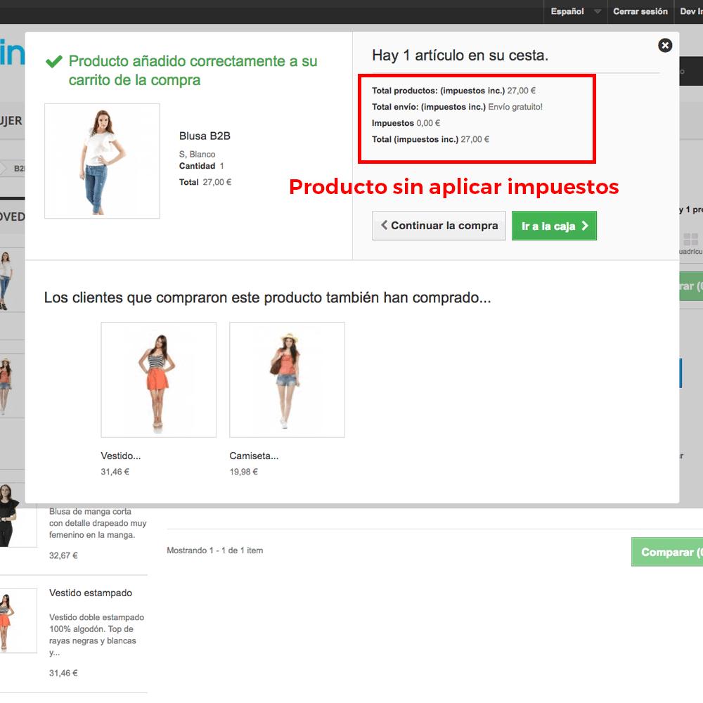 Módulo para Eliminación de impuestos por categoría/cliente - Pantalla 7