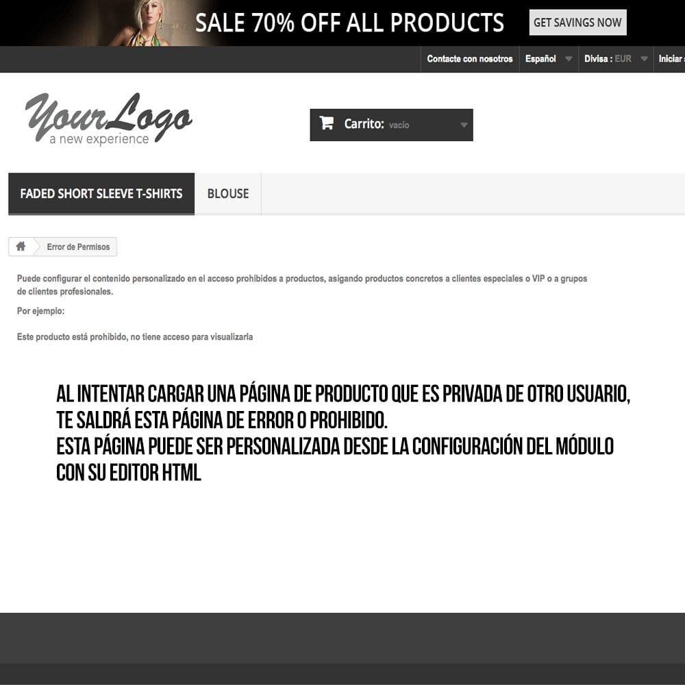Módulo para tener productos privados por clientes o grupos de clientes - Pantalla 5