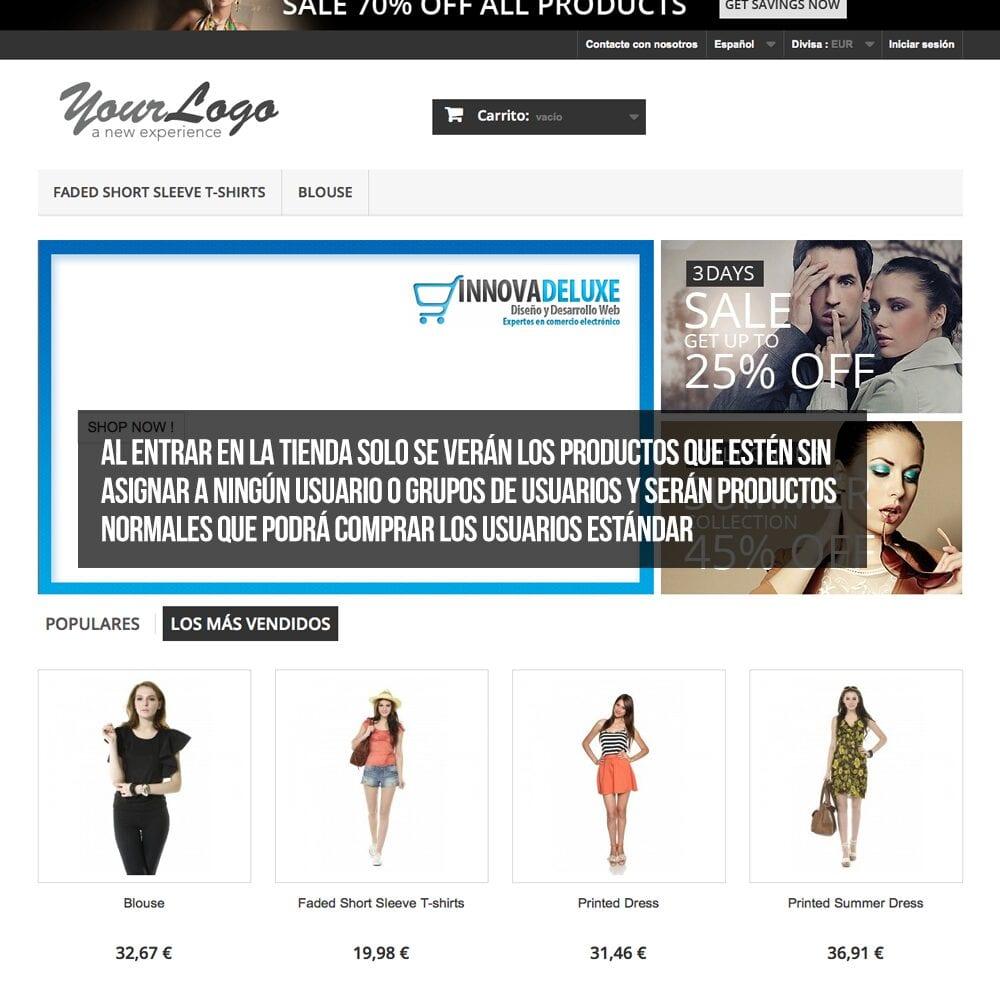 Módulo para tener productos privados por clientes o grupos de clientes - Pantalla 7
