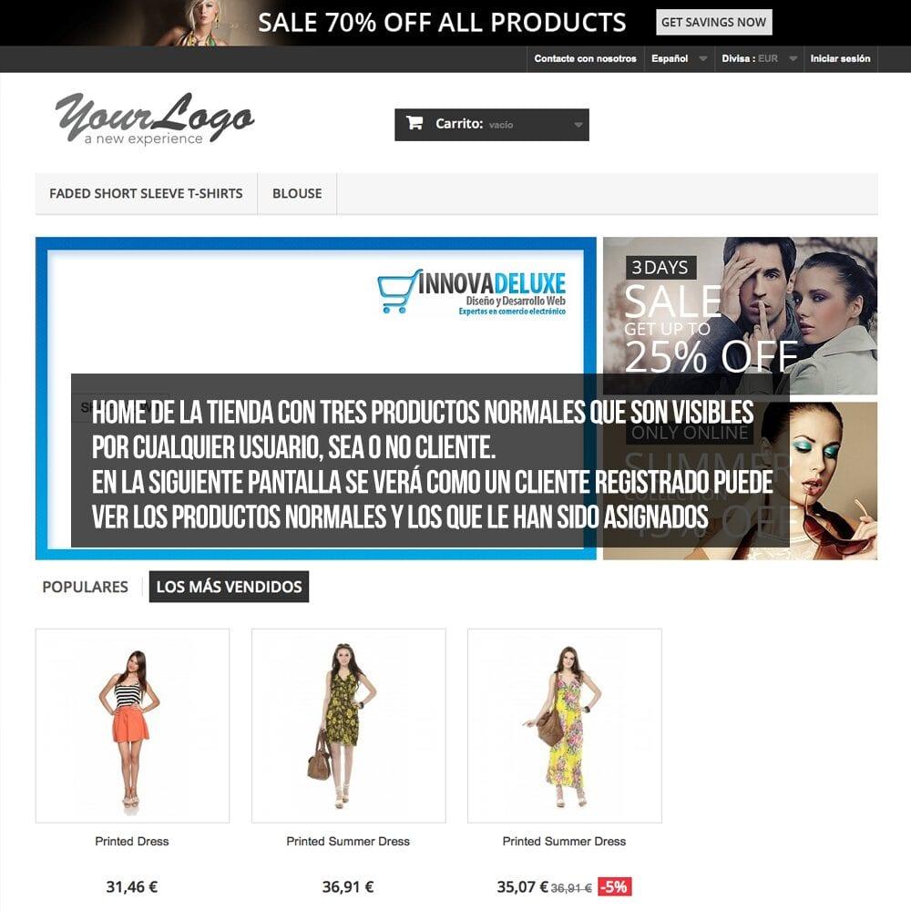Módulo para tener productos privados por clientes o grupos de clientes - Pantalla 8