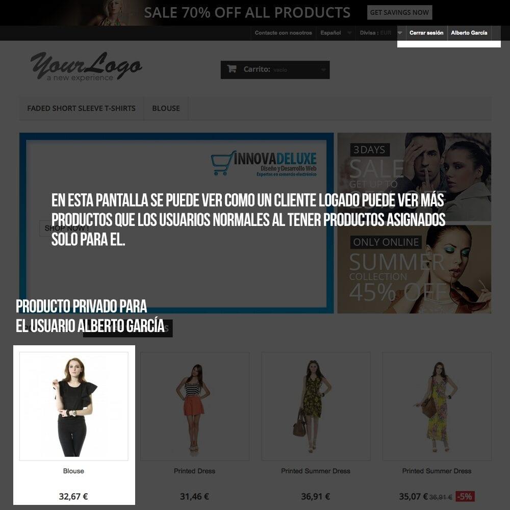 Módulo para tener productos privados por clientes o grupos de clientes - Pantalla 9
