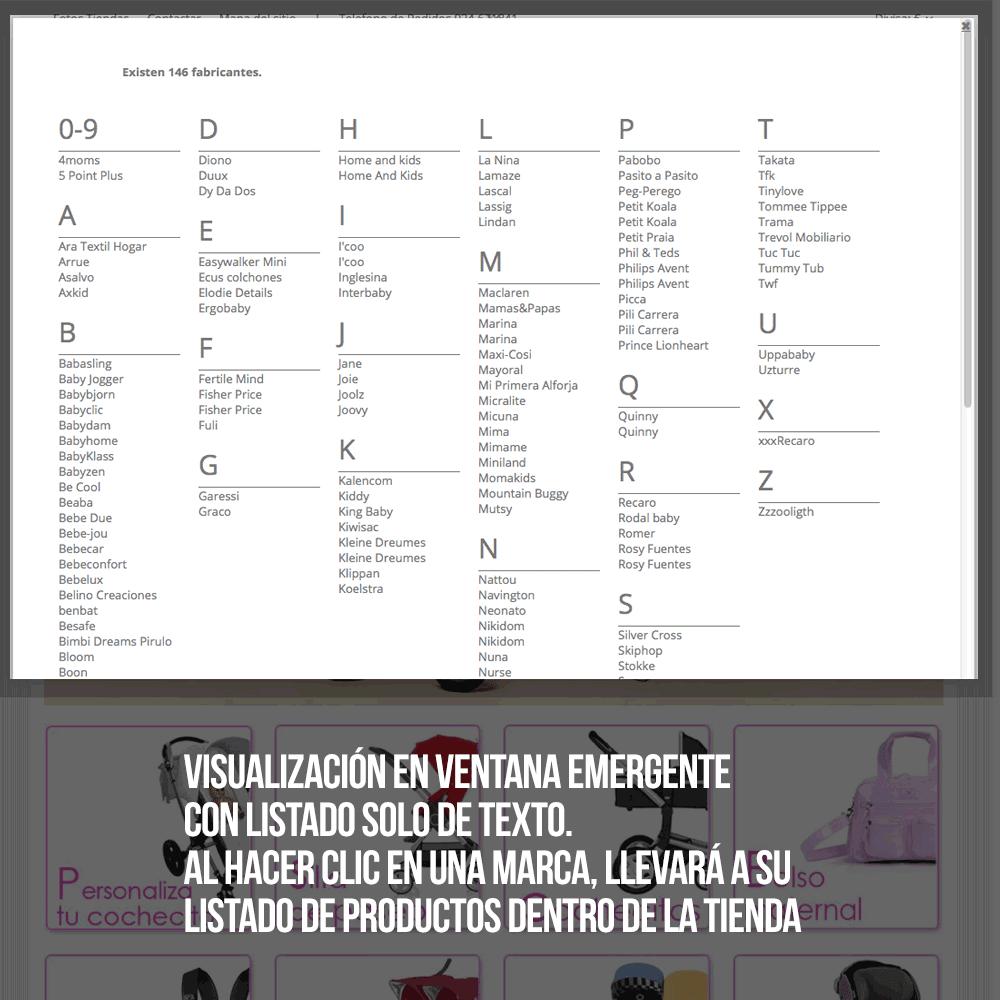 Módulo Buscador de fabricantes o proveedores con ordenación alfabética - Pantalla 7