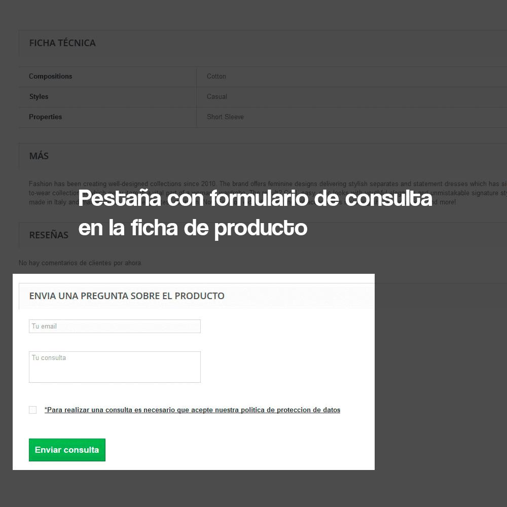Módulo de formulario de contacto en ficha de producto, con cumplimiento de la RGPD - Pantalla 3