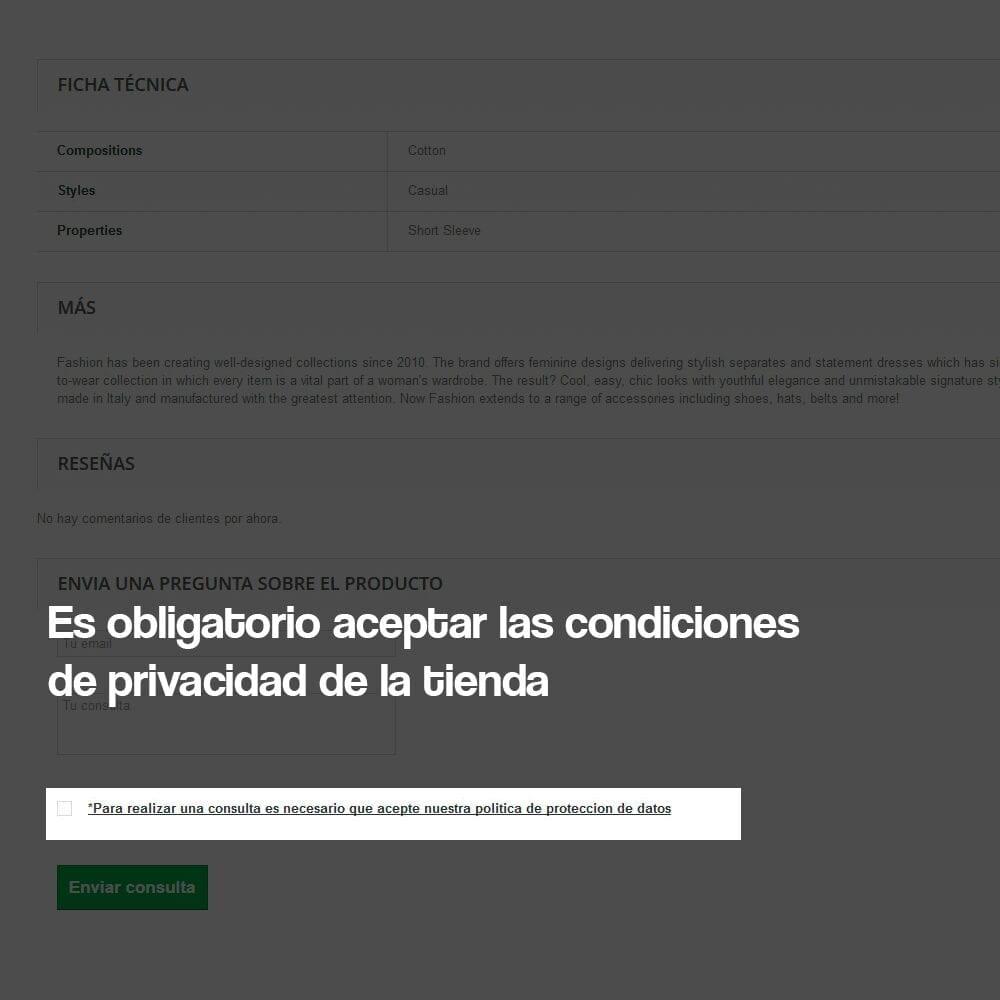 Módulo de formulario de contacto en ficha de producto, con cumplimiento de la RGPD - Pantalla 4