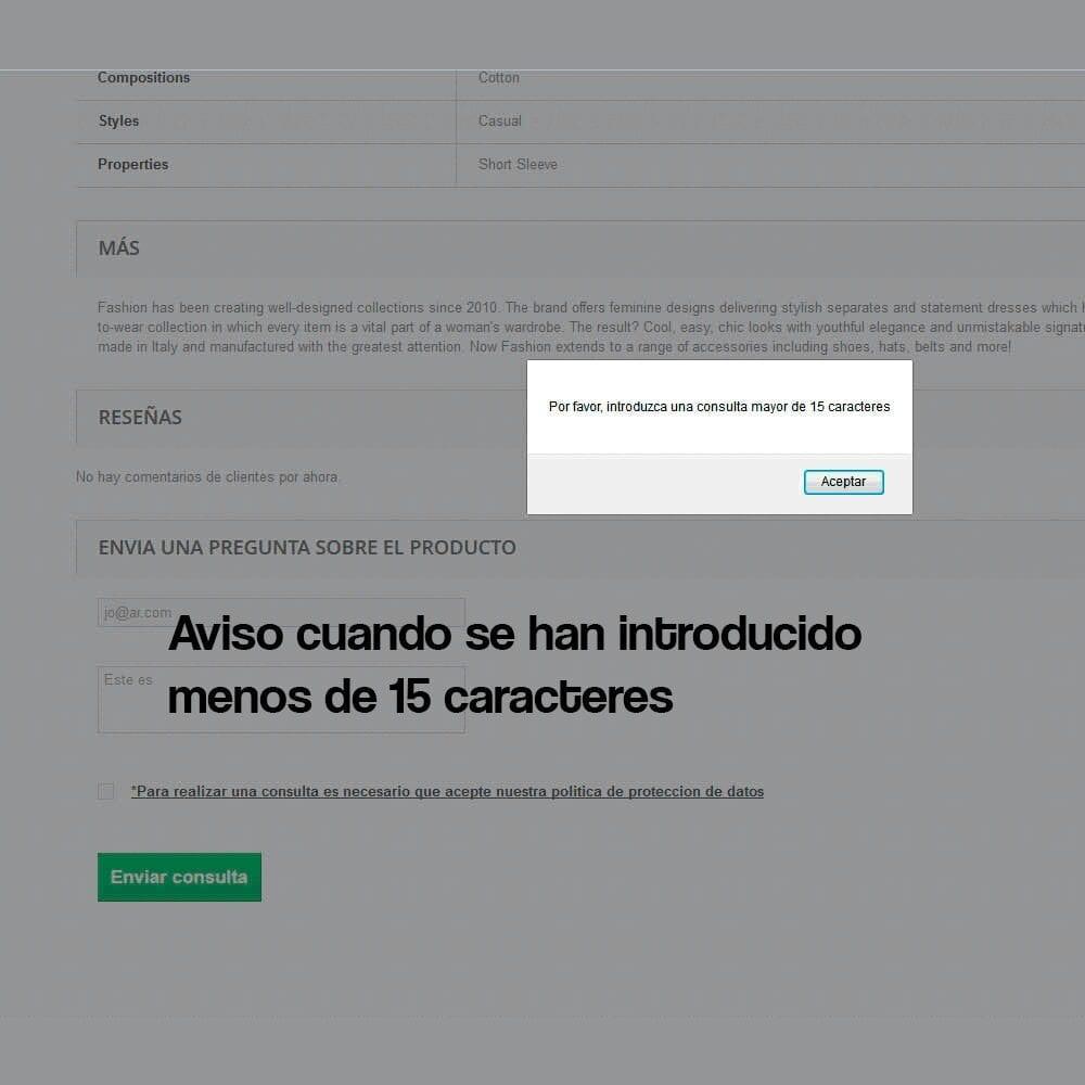 Módulo de formulario de contacto en ficha de producto, con cumplimiento de la RGPD - Pantalla 5