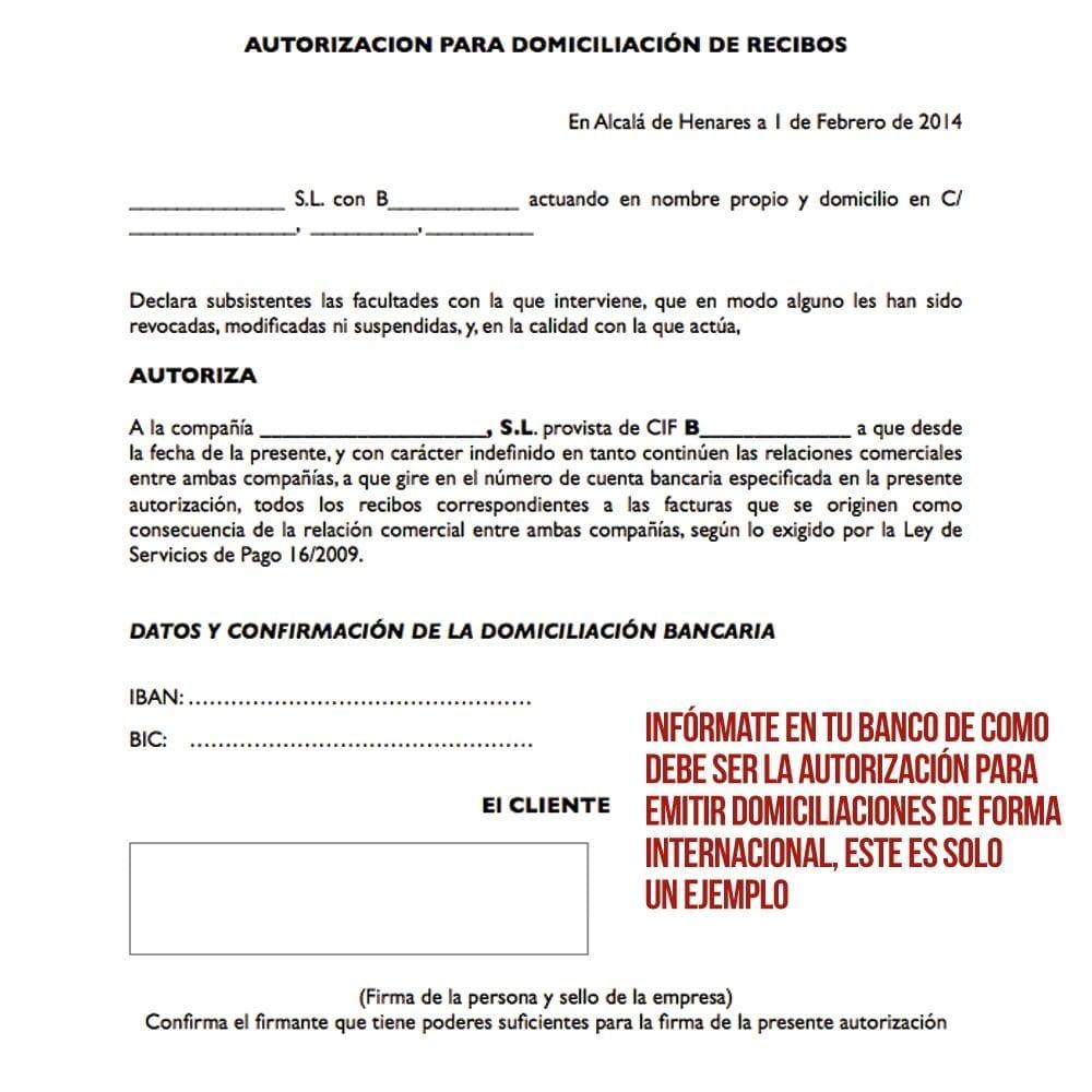 Módulo para Pago por Domiciliación Bancaria Internacional - Pantalla 4