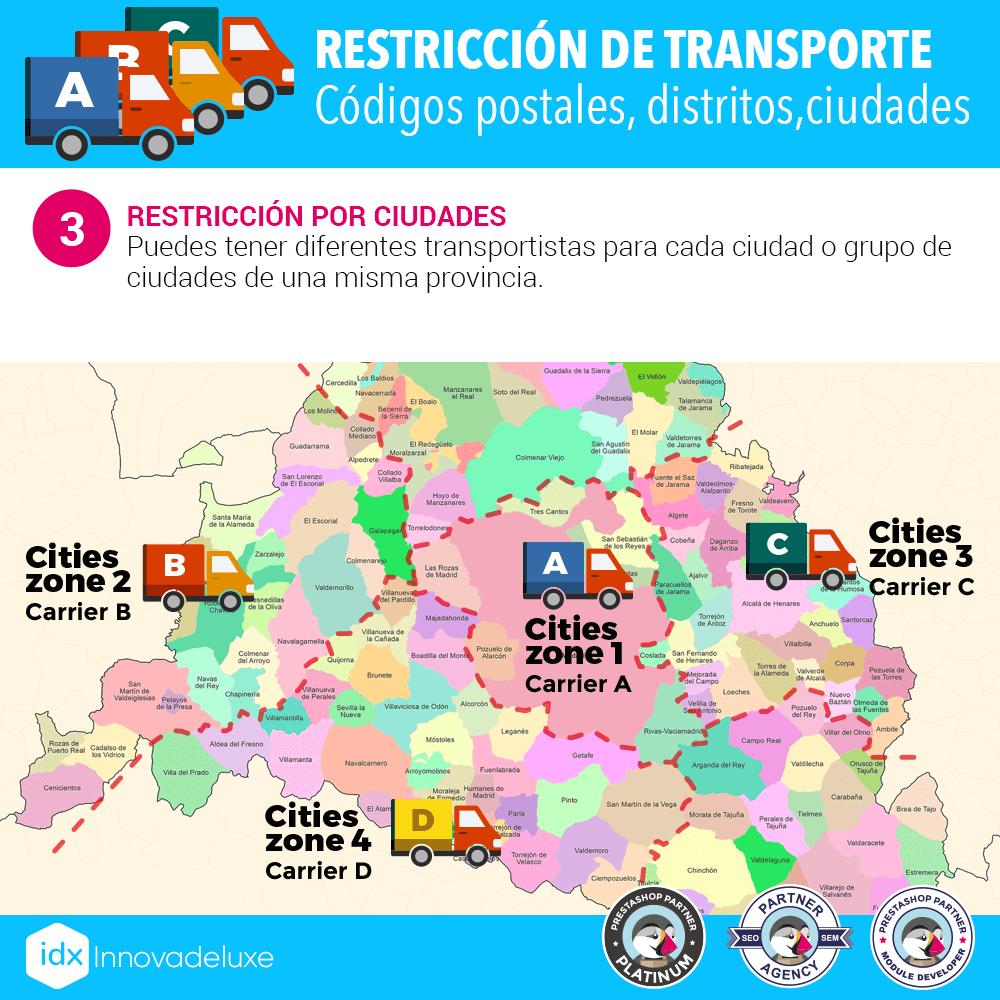Módulo Restricciones de transportistas - Pantalla 3