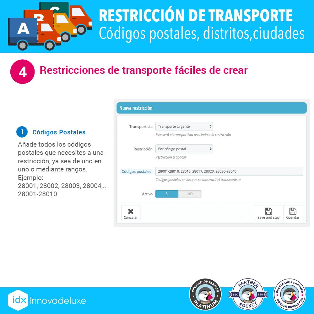 Módulo Restricciones de transportistas - Pantalla 4