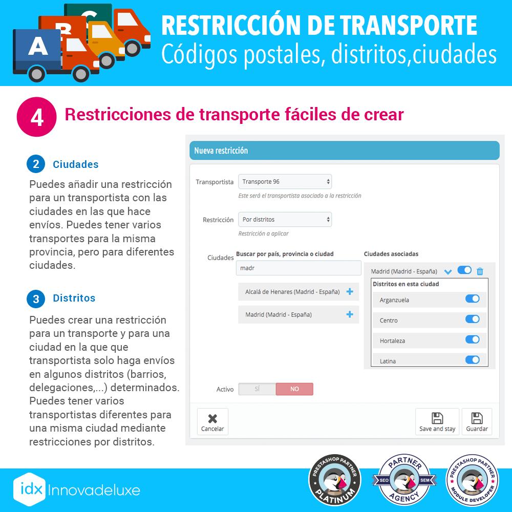 Módulo Restricciones de transportistas - Pantalla 5