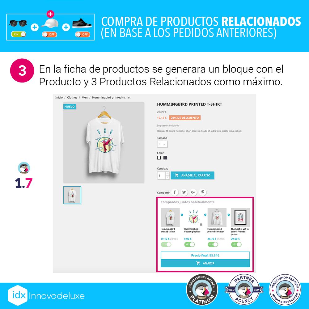 Módulo para mostrar un bloque de productos comprados por otros clientes, habitualmente juntos - Pantalla 5