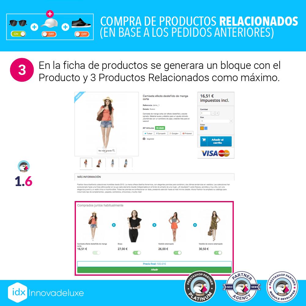 Módulo para mostrar un bloque de productos comprados por otros clientes, habitualmente juntos - Pantalla 6