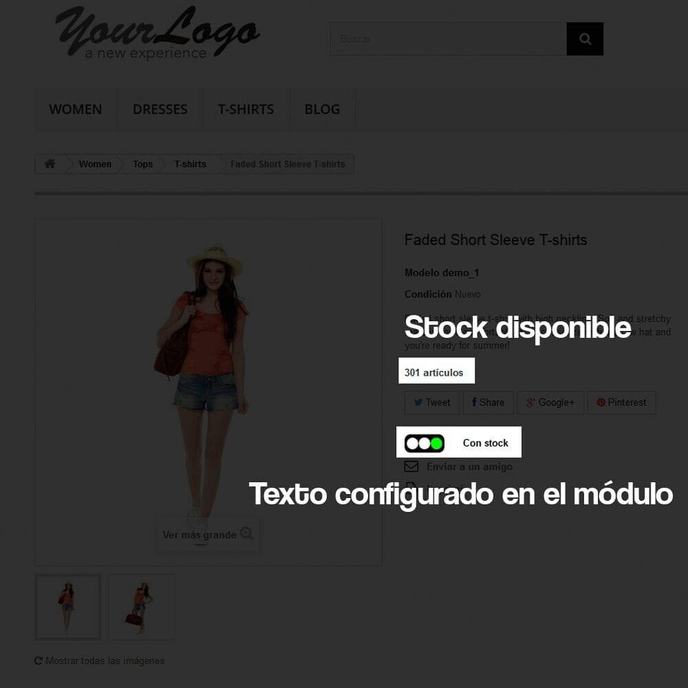 Módulo para añadir a cada producto un indicador visual del nivel de stock disponible - Pantalla 2