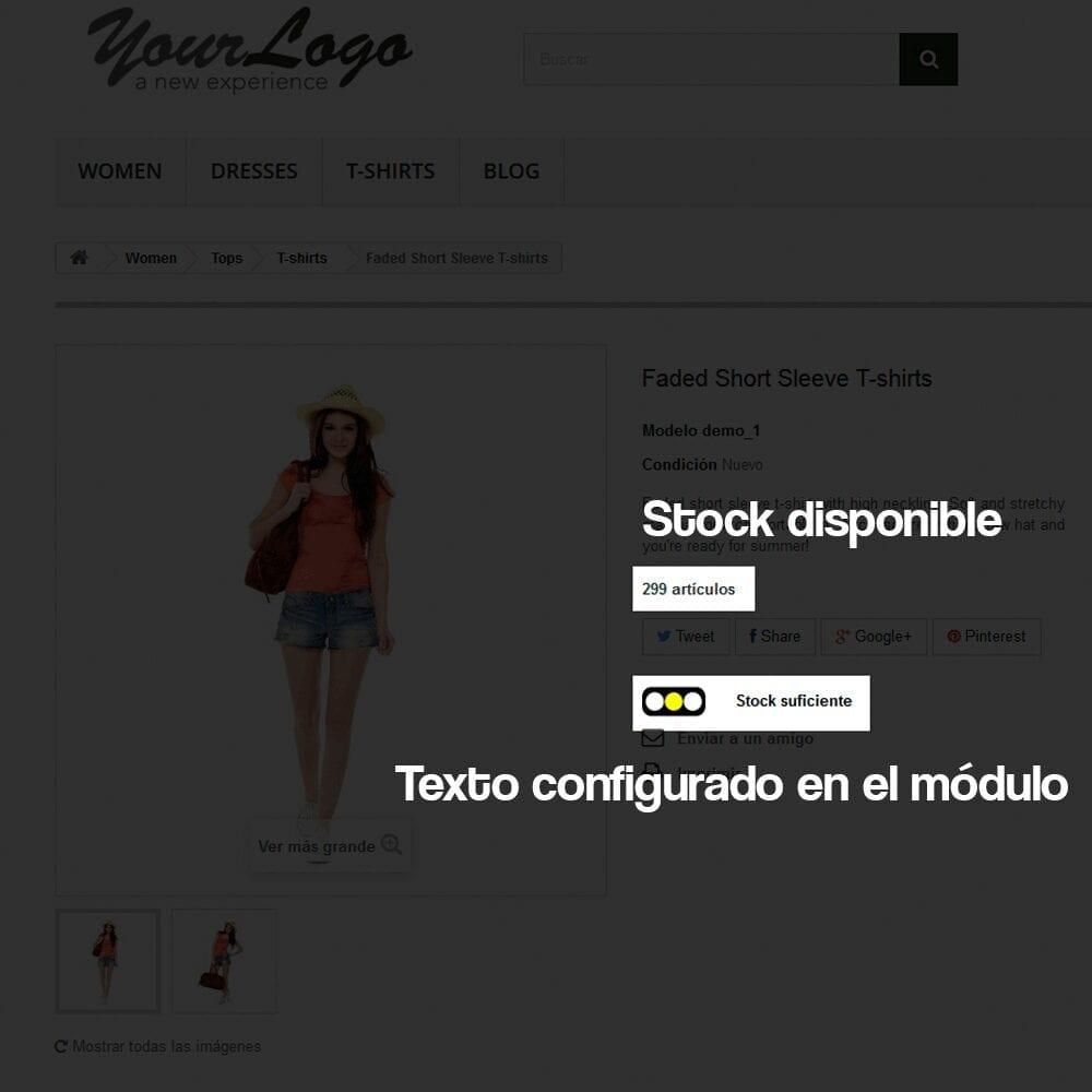 Módulo para añadir a cada producto un indicador visual del nivel de stock disponible - Pantalla 4
