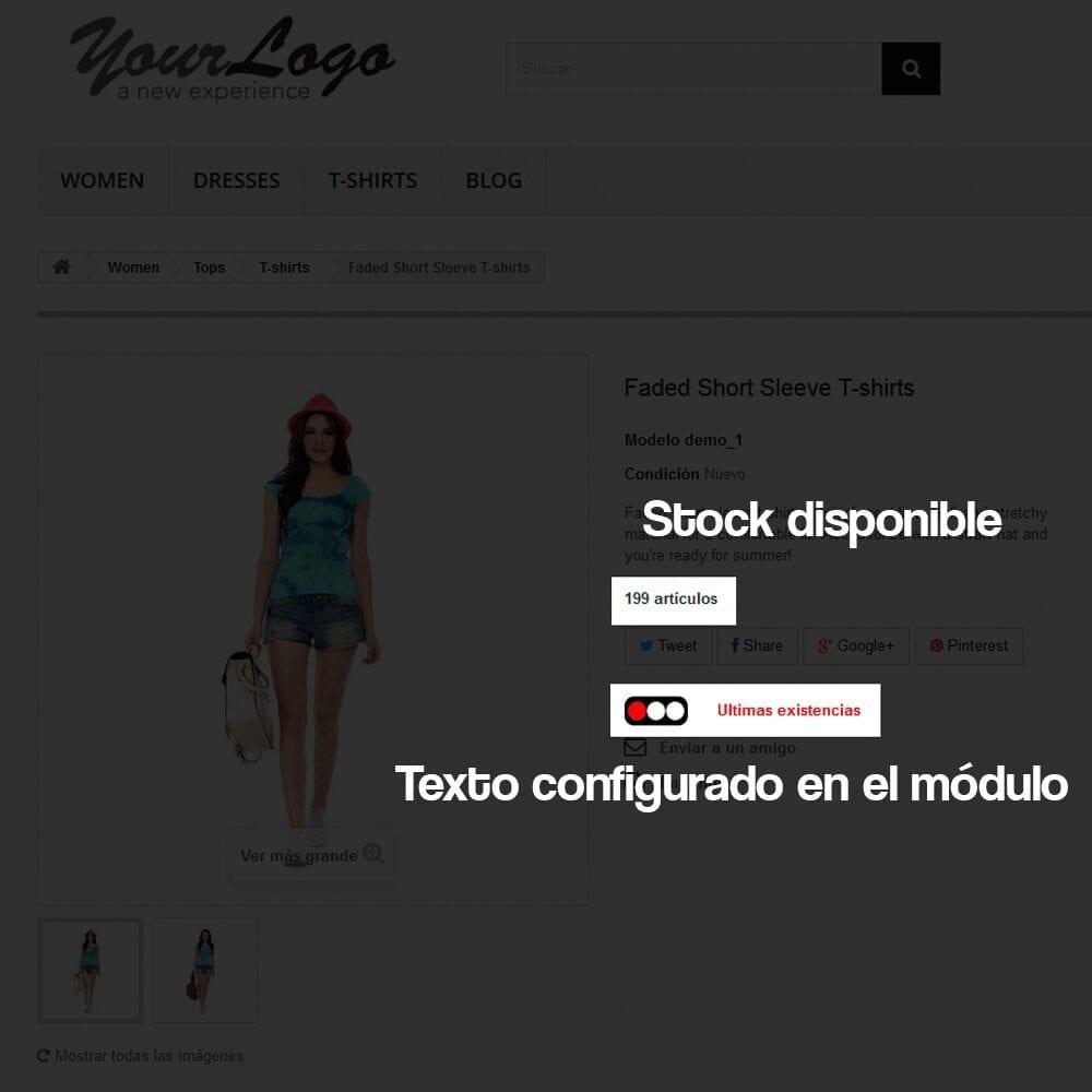Módulo para añadir a cada producto un indicador visual del nivel de stock disponible - Pantalla 6