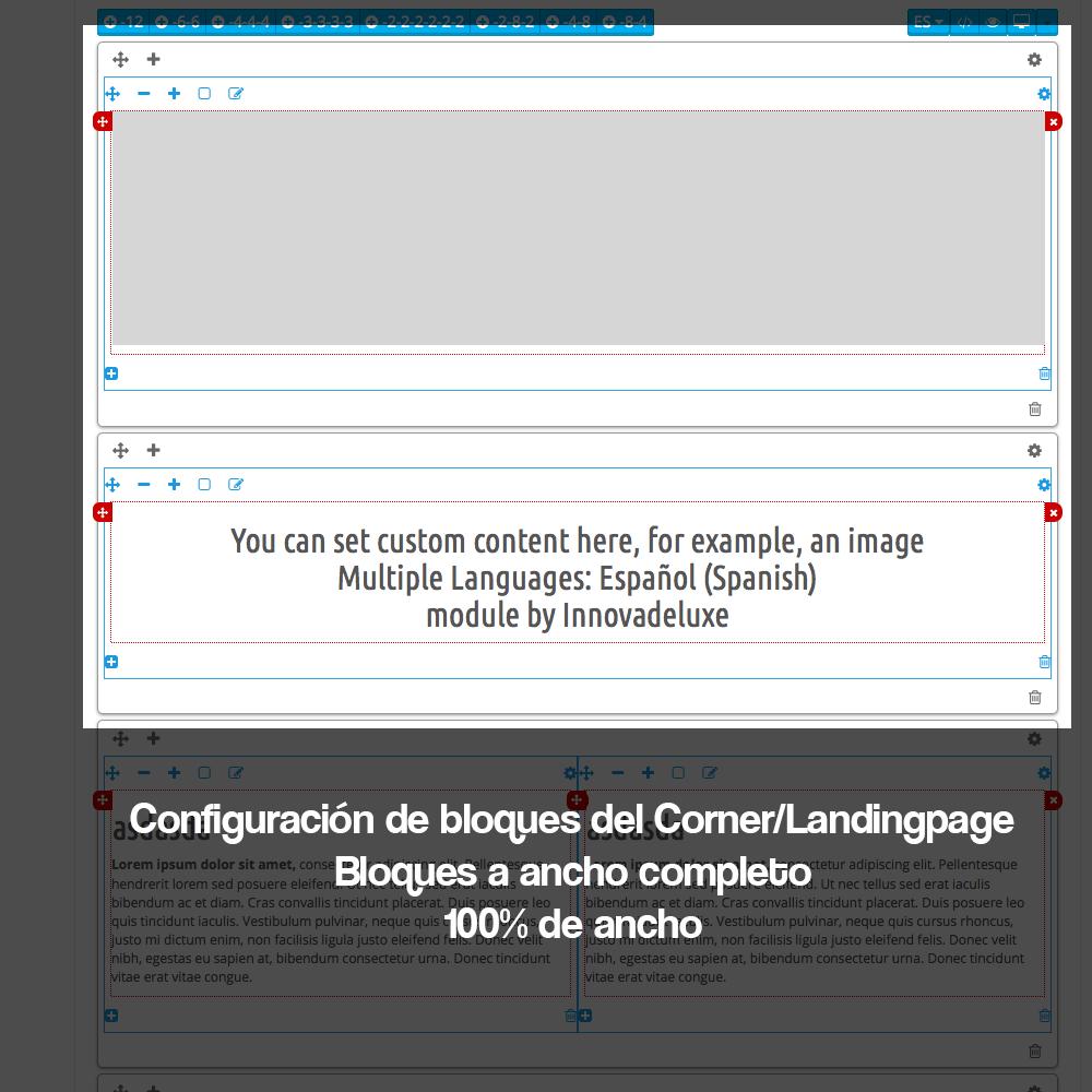 Módulo para crear landing pages, Micrositios o Corners para marcas o Proveedores - Pantalla 10