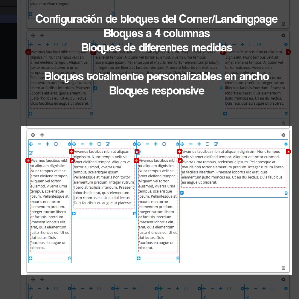 Módulo para crear landing pages, Micrositios o Corners para marcas o Proveedores - Pantalla 15