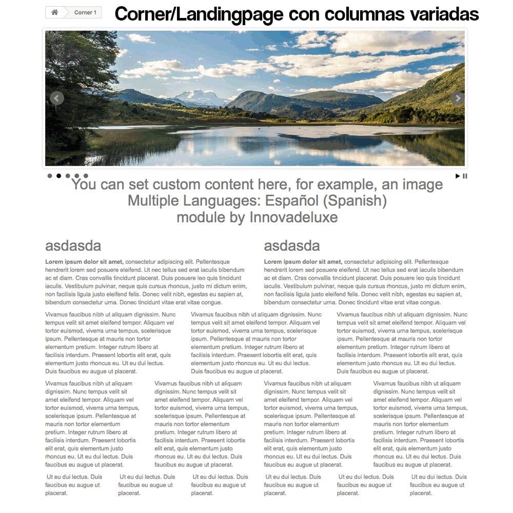 Módulo para crear landing pages, Micrositios o Corners para marcas o Proveedores - Pantalla 17