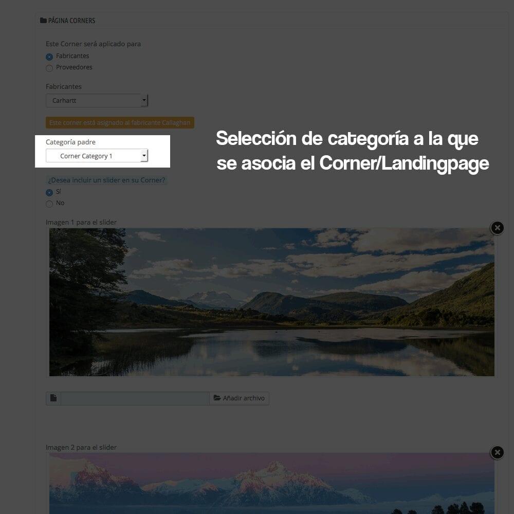 Módulo para crear landing pages, Micrositios o Corners para marcas o Proveedores - Pantalla 6