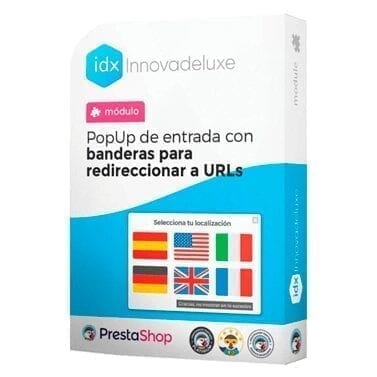 Módulo de PopUp con banderas y enlaces para redirgir a los clientes