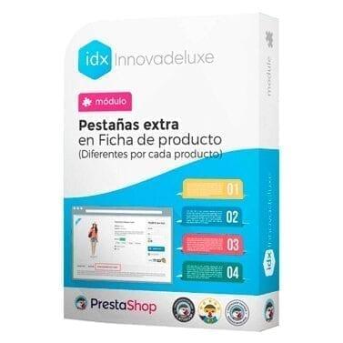 Módilo para añadir pestañas extra a los productos con información personalizada por cada producto