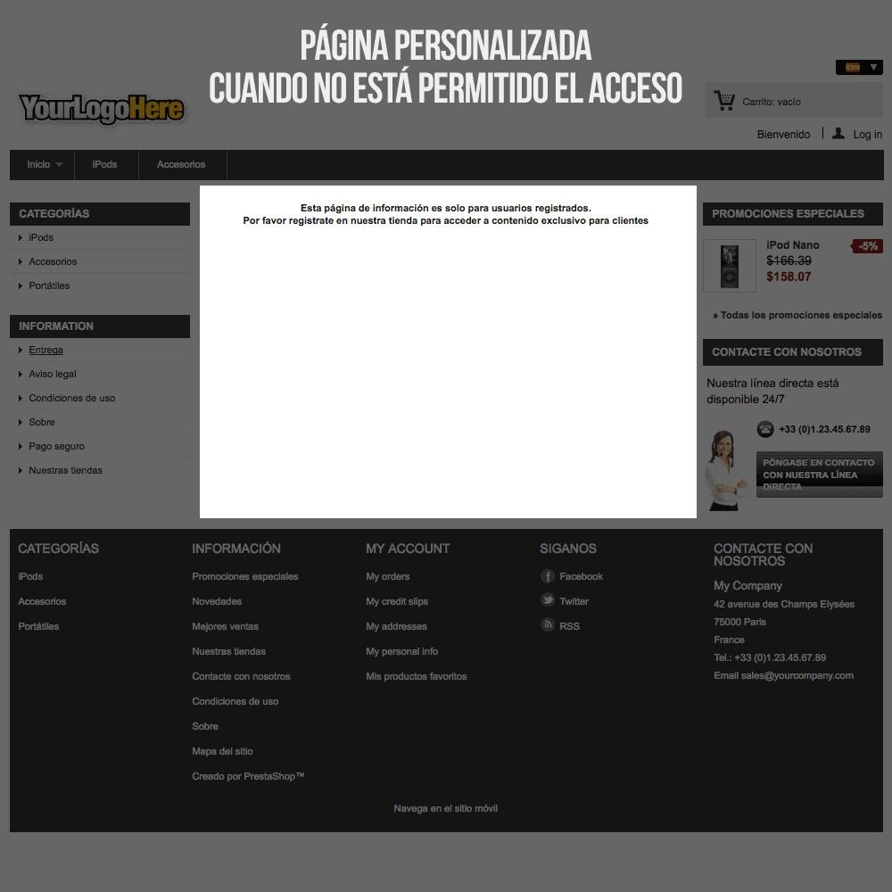 Módulo para tener páginas CMS privadas por grupos de clientes - Pantalla 6