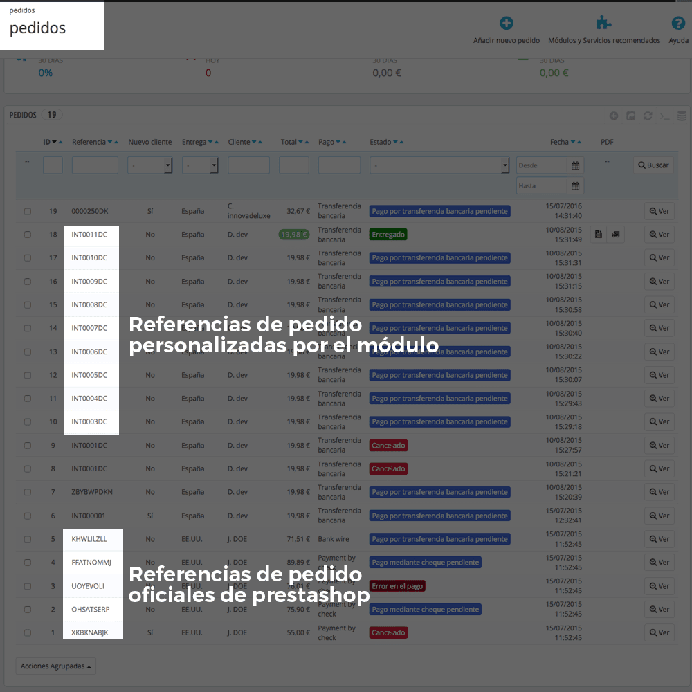 Módulo para personalizar la referencia de los pedidos - Pantalla 10